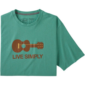 Patagonia Live Simply Guitar Camiseta Responsable Hombre, light beryl green